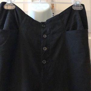 Transit Par-Such silky shirt ankle pant w/ zippers